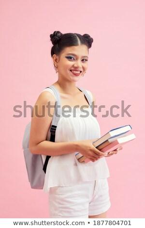 Foto bastante doble peinado sonriendo Foto stock © deandrobot