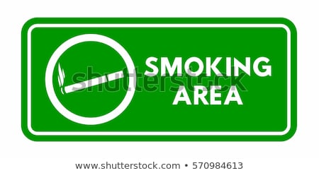 Smoking Area Sign. Vector Illustration isolated on white. stock photo © kyryloff