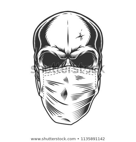 crânio · máscara · cirúrgica · assinar · ciência · máscara · vida - foto stock © vladacanon