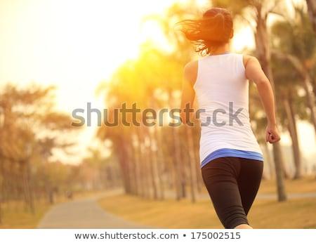 yellow clothing girl_exercise Stock photo © toyotoyo