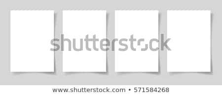 Blank A4 sheet of white paper with shadow, template for your design. Set. Vector illustration Stock photo © olehsvetiukha