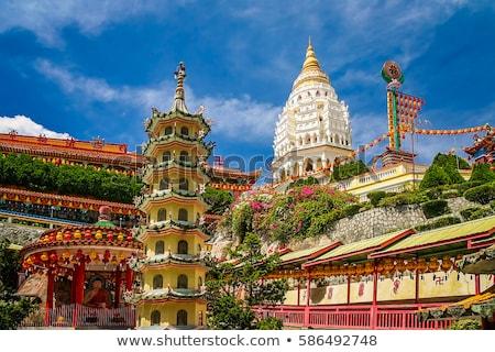 Buddhista templom Malajzia égbolt épület tájkép Stock fotó © galitskaya