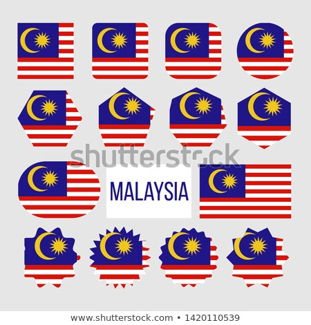 Malaysia Flag Collection Figure Icons Set Vector Stock photo © pikepicture