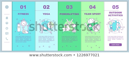 Fitness and Healthy Lifestyle Online Web Pages Stock photo © robuart