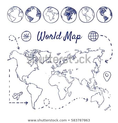 Сток-фото: компас · иконки · службе · настоящее · стрелка · поддержки