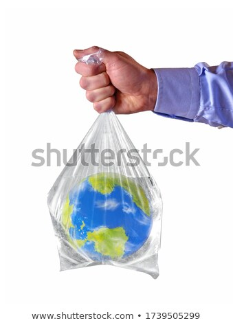 Concept of pollution by plastic asphyxia Stock photo © lunamarina
