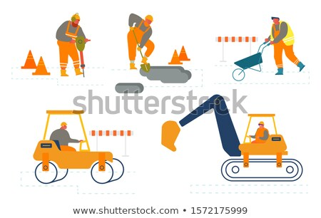 Pelle travaux vecteur travailleurs gilet Photo stock © robuart