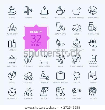 Set of sauna icons. Stock photo © netkov1