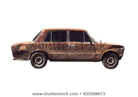 Corrosão carro velho pormenor velho ferrugem branco Foto stock © simazoran