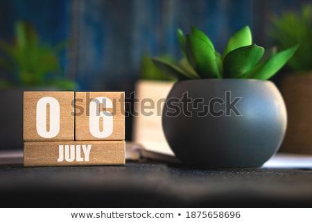 Cubes calendar 6th July Stock photo © Oakozhan