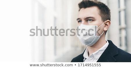 Chorych biznesmen opieka medyczna młodych pigułki człowiek Zdjęcia stock © ra2studio