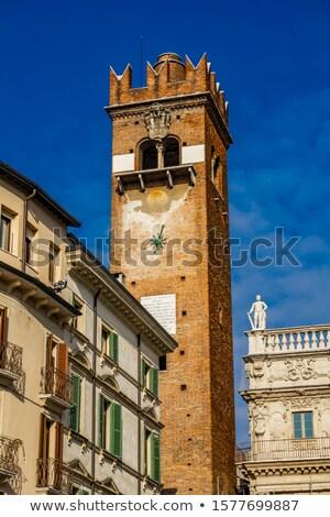 torre del gardello gardello tower from xii century in verona stock photo © boggy