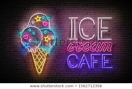 льда · стены · синий · аннотация · фон · кирпичных - Сток-фото © lissantee