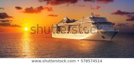 gemi · tuna · nehir · gökyüzü · şehir · mavi - stok fotoğraf © borisb17