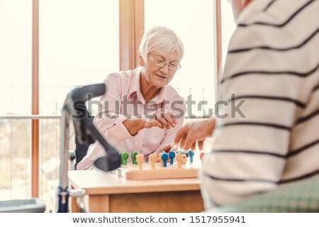 deux · maison · de · retraite · jouer · homme - photo stock © kzenon