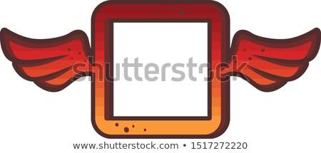 Cuadrados rojo logo marca icono signo Foto stock © vector1st