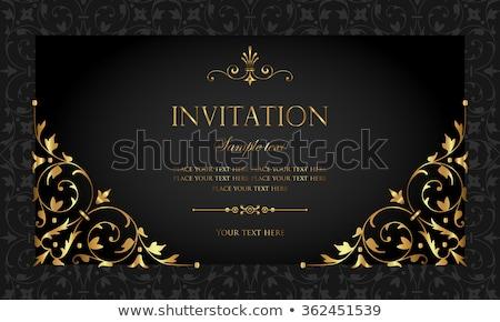 luxus · arany · fekete · meghívó · vektor · terv - stock fotó © blue-pen