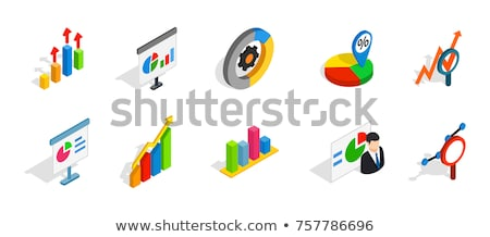 charts and diagrams   vector isometric icons set stock photo © decorwithme