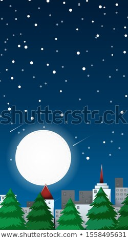 Background scene with fullmoon in the city Stock photo © bluering
