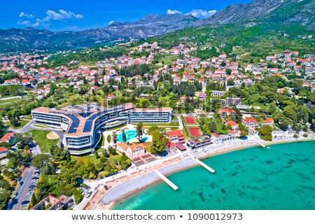 Dubrovnik régió vízpart légifelvétel tengerpart Horvátország Stock fotó © xbrchx