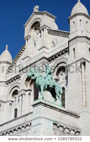ív bronz lovas szobor homlokzat bazilika Stock fotó © sarahdoow