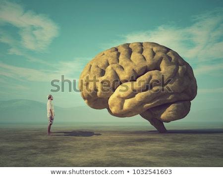 Grande cérebro negócio terno seis acima Foto stock © orla