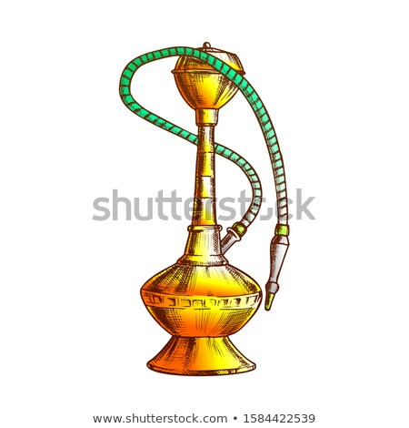 Smoking Hookah Lounge Cafe Tool Hand Drawn Vector Stock photo © pikepicture
