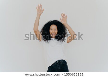 Mezza lunghezza shot energetico spensierato donna Foto d'archivio © vkstudio