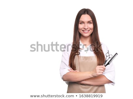 Hairdresser hand in studio white background Stock photo © Lopolo