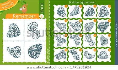 find the right answer memory shape Stock photo © Olena