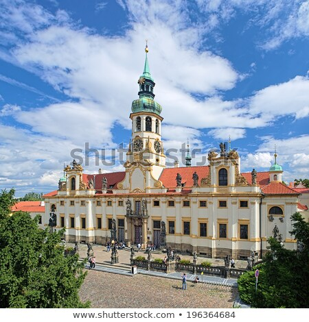Templom Prága zarándoklat uticél épület torony Stock fotó © manfredxy