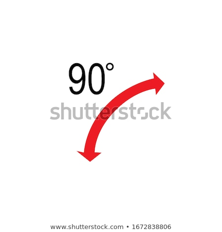 90 Degrees Angle with arrows. Stock Vector illustration isolated on white background. Stock photo © kyryloff