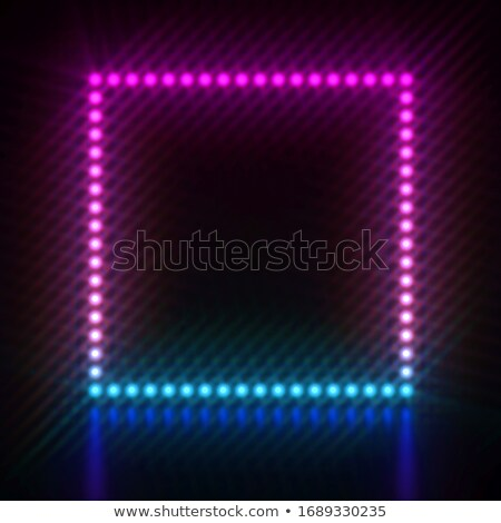 Pink blue dot light square frame 3D Stock photo © djmilic