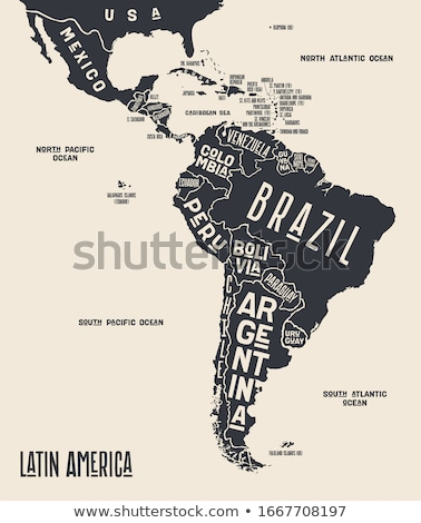 Map Latin America. Poster map of Latin America Stock photo © FoxysGraphic