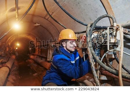 люди, работающие горно промышленности строительство люди механизм Сток-фото © robuart