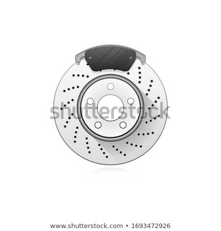 Fren araba tekerlek oto disk terlik Stok fotoğraf © gomixer