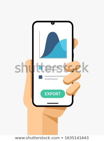 Smartphone menschlichen Hand elektronischen Commerce Anwendung Stock foto © karetniy