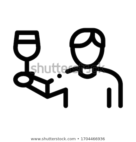 wine drinker icon vector outline illustration Stock photo © pikepicture