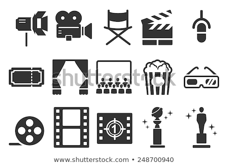 Film Industry and Theater Icons Stock photo © Palsur