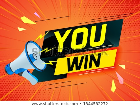 Loteria gry lądowanie strona biznesmen kobieta Zdjęcia stock © RAStudio