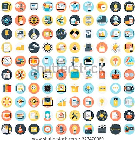 Społeczności kolor wektora ikona internetowych Zdjęcia stock © ayaxmr