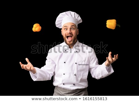 Stockfoto: Chef Juggling With Peppers
