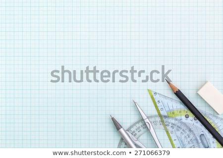 Grafik tasarım cetvel kalem kâğıt bilgisayar Stok fotoğraf © yupiramos