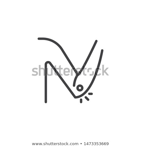 arthritis of elbow icon vector outline illustration Stock photo © pikepicture