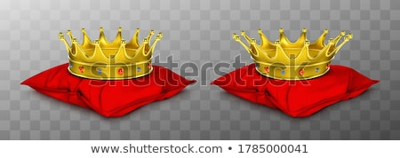 Golden Corona, Crown with Gems, Jewelry Vector Stock photo © robuart