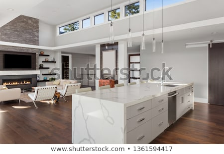 Contemporary coffee table with an open drawer Stock photo © cienpies