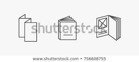 printed booklet icon vector outline illustration Stock photo © pikepicture