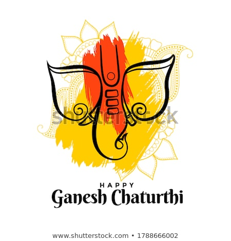 happy ganesh chaturhi festival wishes card design Stock photo © SArts