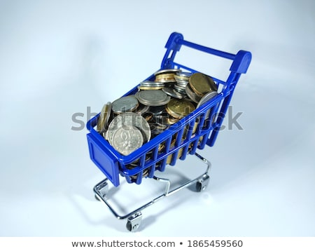 Focus on growth in wealth isolated on blue Stock photo © johnkwan