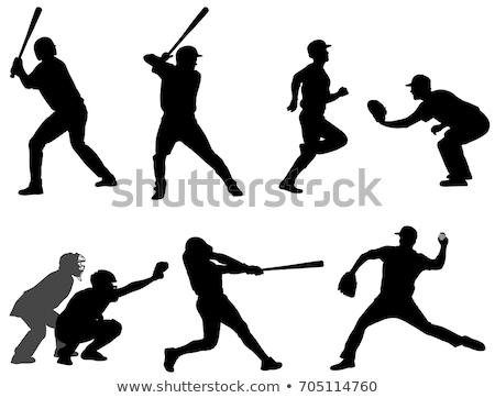 野球 シルエット コレクション 審判 ベクトル ボール ストックフォト © macropixel